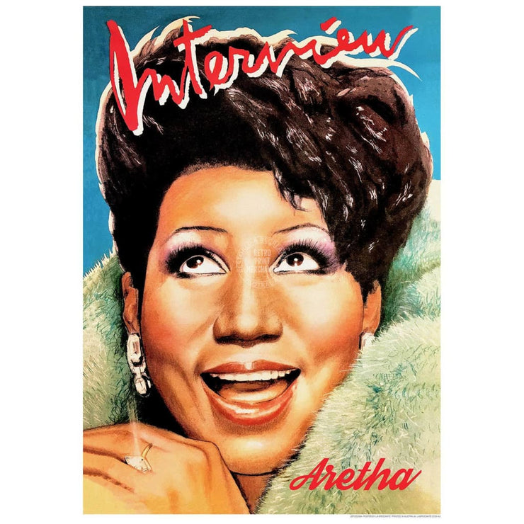 Aretha Queen Of Soul | Usa 422Mm X 295Mm 16.6 11.6 A3 / Unframed Print Art