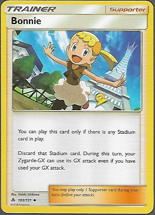 Pokemon Forbidden Light #103 BONNIE Uncommon Trainer