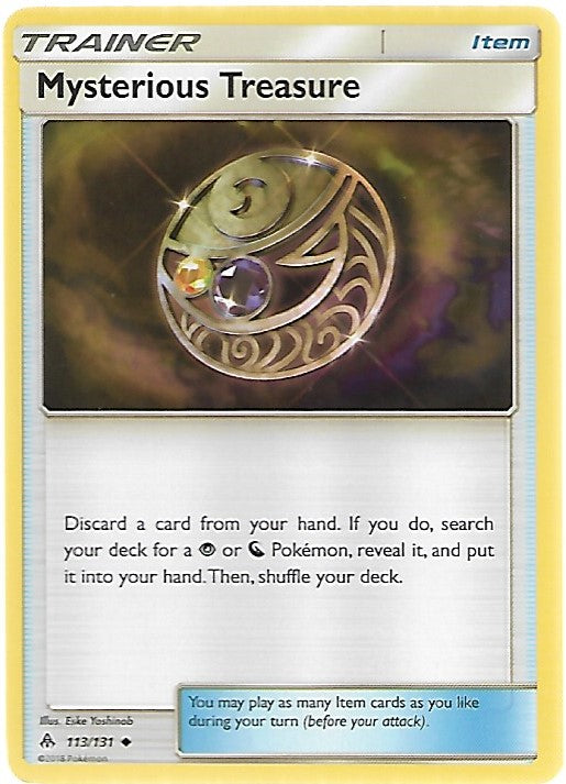 Pokemon Forbidden Light #113 MYSTERIOUS TREASURE Uncommon Trainer