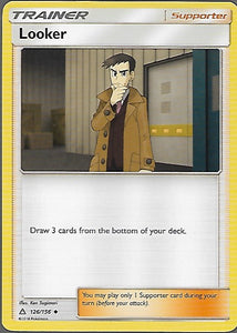Pokemon Ultra Prism #126 LOOKER Uncommon Trainer
