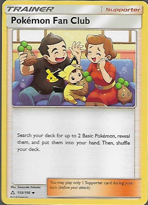 Pokemon Ultra Prism #133 POKEMON FAN CLUB Uncommon Trainer