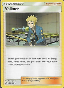 Pokemon Ultra Prism #135 VOLKNER Uncommon Trainer