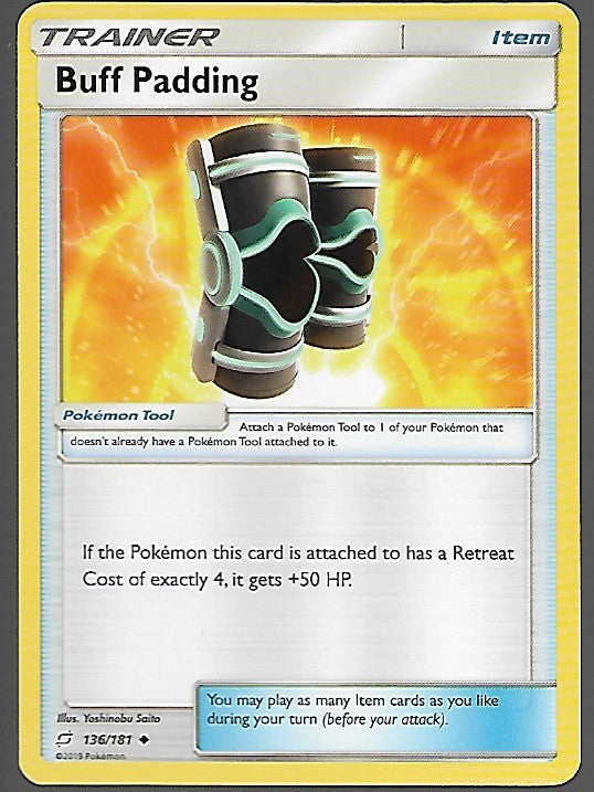 Pokemon Team Up #136 BUFF PADDING Uncommon Trainer