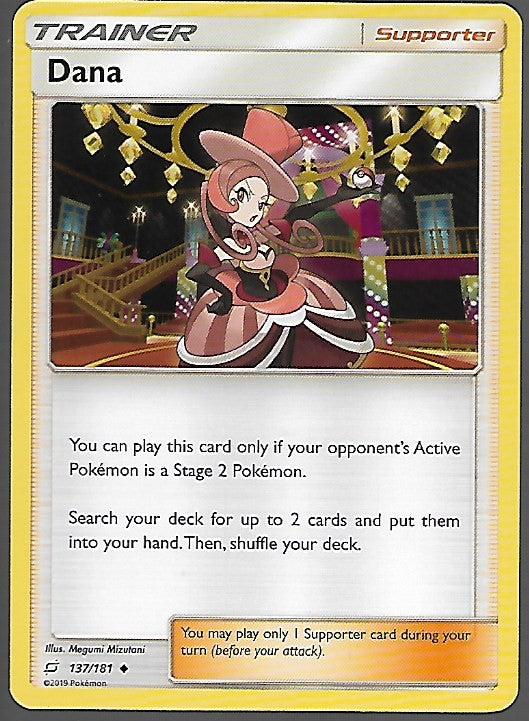 Pokemon Team Up #137 DANA Uncommon Trainer