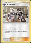 Pokemon Team Up #144 INGO & EMMET Uncommon Trainer