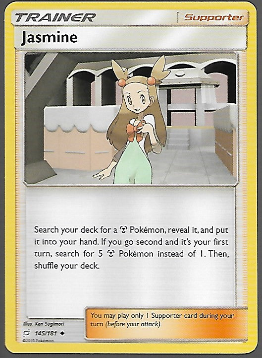 Pokemon Team Up #145 JASMINE Uncommon Trainer