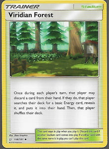 Pokemon Team Up #156 VIRIDIAN FOREST Uncommon Trainer