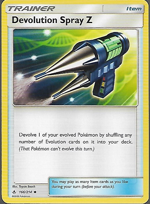 Pokemon Unbroken Bonds #166 DEVOLUTION SPRAY Z Uncommon Trainer