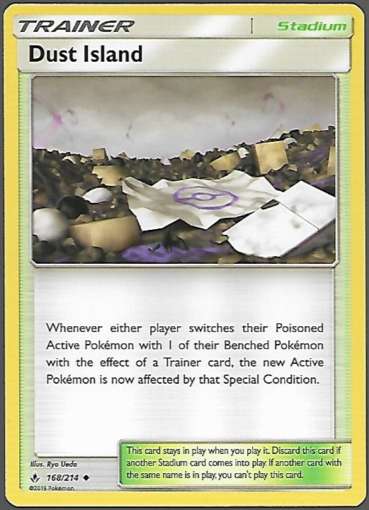 Pokemon Unbroken Bonds #168 DUST ISLAND Uncommon Trainer