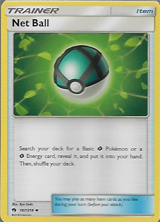 Pokemon Lost Thunder #187 NET BALL Uncommon Trainer