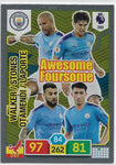 2019/20 Panini Adrenalyn XL #399 AWESOME FOURSOME MANCHESTER CITY