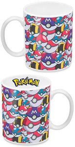 Pokemon Coffee Mug Pokeball Pattern Multi