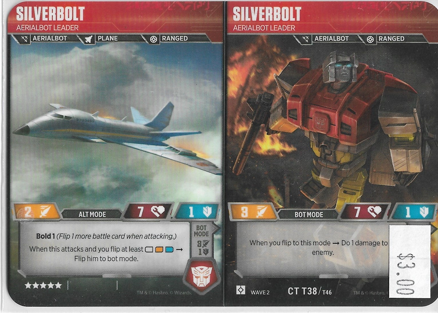 TRANSFORMERS SILVERBOLT
