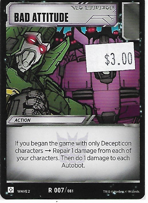 TRANSFORMERS CARD