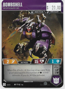 Transformers Card Bombshell
