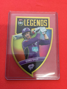 18/19 Tap N Play BBL Legends CLS-03 #/750 GEORGE BAILEY Hobart Hurricanes