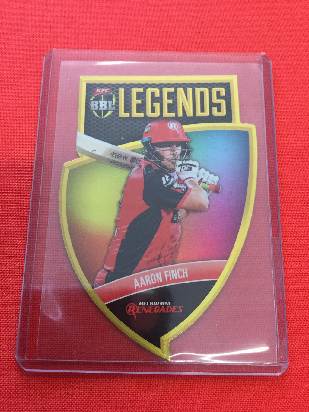 18/19 Tap N Play BBL Legends CLS-04 #/750 AARON FINCH Melbourne Renegades