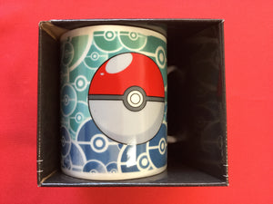 Pokemon Coffee Mug Pokeball Pattern Blue