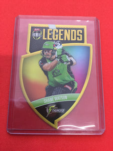 18/19 Tap N Play BBL Legends CLS-08 #/750 SHANE WATSON Sydney Thunder