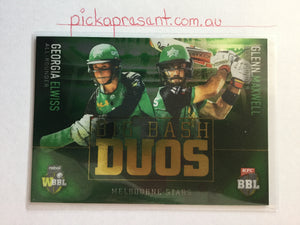 18/19 Tap N Play Big Bash Duos BBD-05 ELWISS & MAXWELL