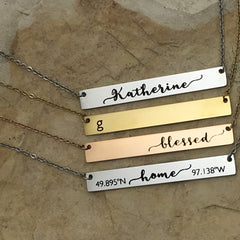 Stainless Steel Bar Necklaces