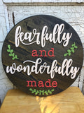"* 18"" Wood Circle Sign / Custom Made Name Round Sign / 3D Name / Nursery Name Sign / Wood Decor"