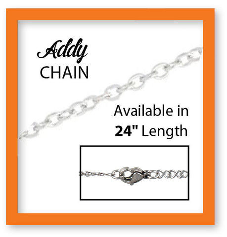 "Stainless Steel Addy 24"" Chain"
