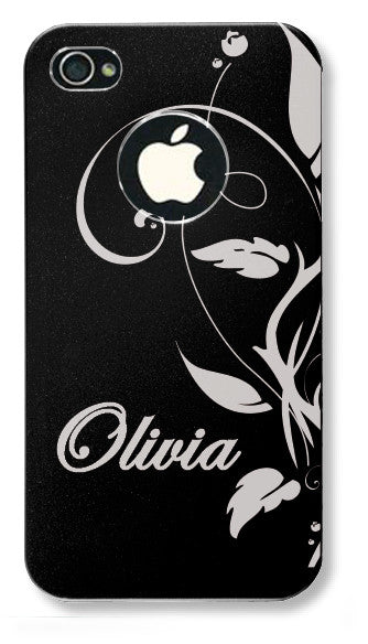 iPhone 4s // Personalized BLACK iPhone 4s Aluminum Case - You choose from 8 designs!