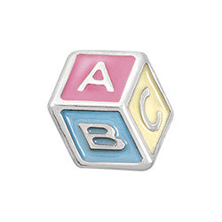 Baby Block Floating Locket Charm