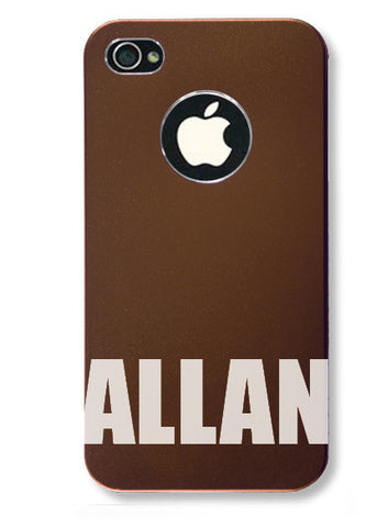 iPhone 4s // Personalized COFFEE iPhone 4s Aluminum Case - You choose from 8 designs!