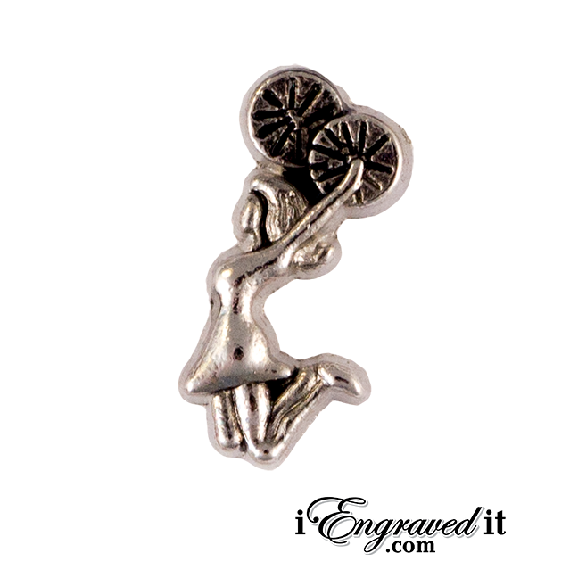 Cheerleader Floating Locket Charm