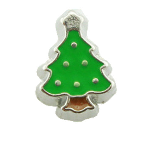 Christmas Tree Floating Locket Charm