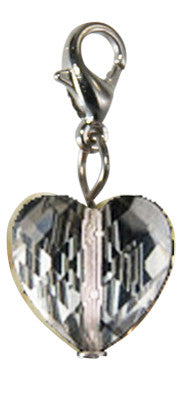 Gem Heart ~ Smokey Heart Gem Locket Dangle