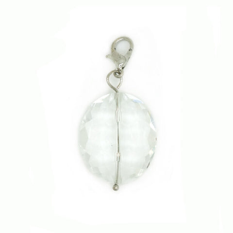Jewel ~ White Jewel Locket Dangle