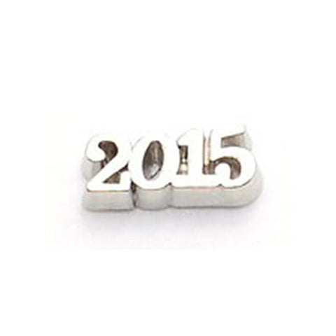 2015 Silver Floating Locket Charm
