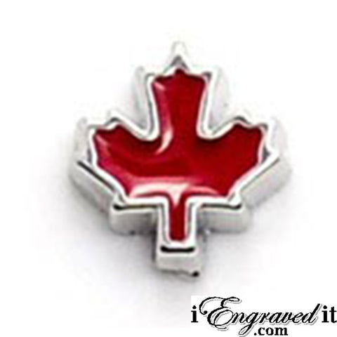 Maple Leaf Floating Locket Charm