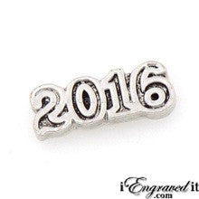 2016 Silver Floating Locket Charm