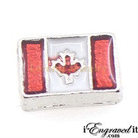 Canada Flag Floating Locket Charm