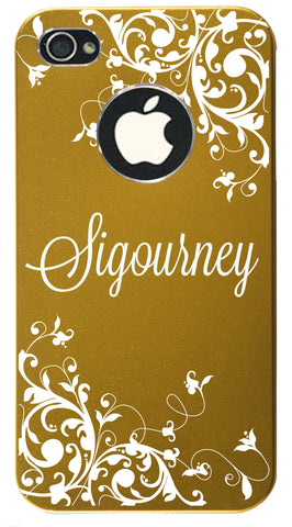 iPhone 4s // Personalized GOLD iPhone 4s Aluminum Case - You choose from 8 designs!