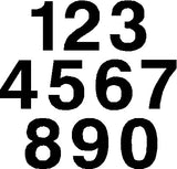 Aluminum House Numbers - Various Sizes - 3 Styles Available