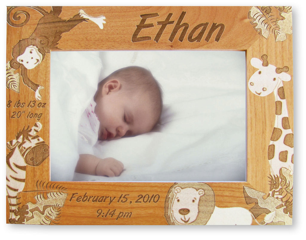 Jungle Fever Frame Birth Record Frame Available In 4 Sizes