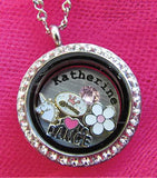 Close to Your Heart Crystal Locket - MEDIUM 25 mm - Secure Twist Top Crystal Floating Locket