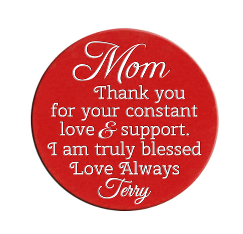 Thank You Mom Locket Plate for 30mm or 25mm Locket ~Choose Your Colour!