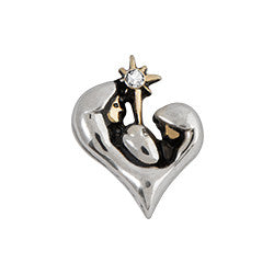 Copy of Nativity Heart Floating Locket Charm