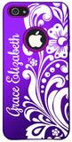 iPhone 5s // Personalized PURPLE w/Pink SILICONE iPhone 5/5s Case - You choose from 8 designs!