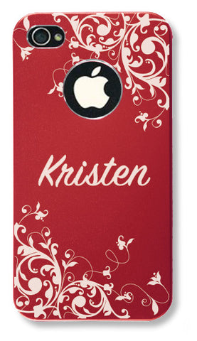 reputable site e26bc 7e3bd iPhone 4s // Personalized RED iPhone 4s Aluminum Case - You choose from 8  designs!