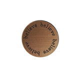 BELIEVE Inspirational BRONZE Locket Plate ~Choose Your Size!