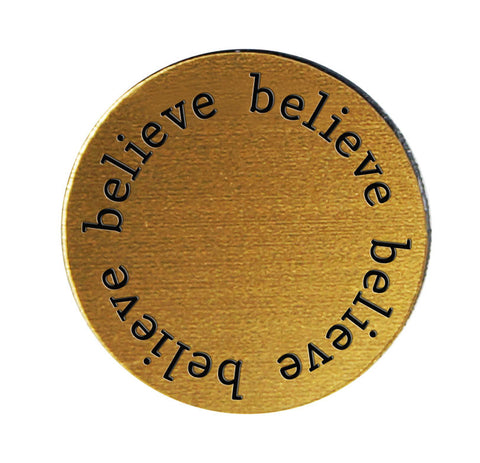 BELIEVE Inspirational GOLD Locket Plate ~Choose Your Size!