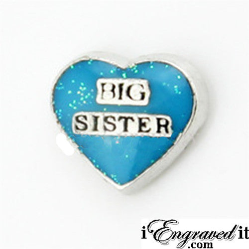 Big Sister Floating Locket Charm