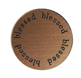 BLESSED Inspirational BRONZE Locket Plate ~Choose Your Size!
